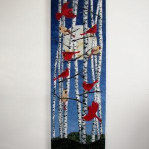 Cardinals in Birches Blue