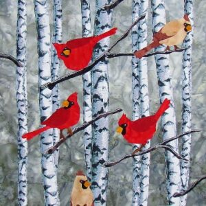 Cardinals in Birches